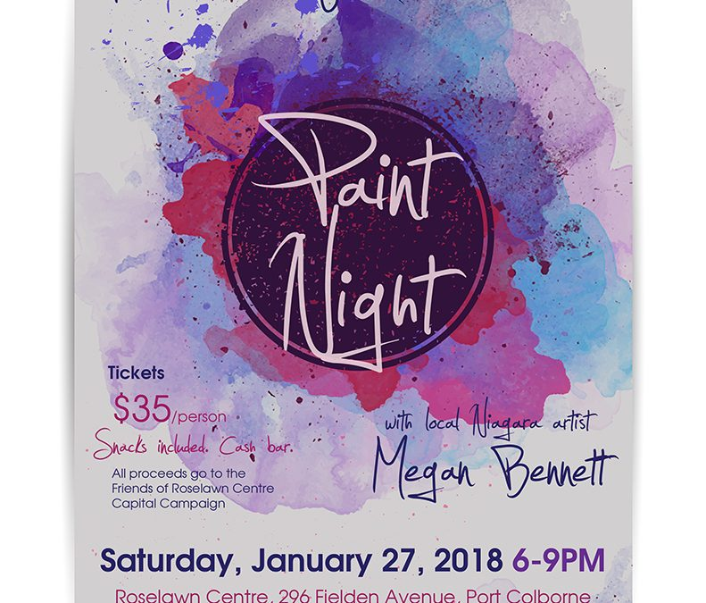 Friends' Paint Night fundraiser with Megan Bennett